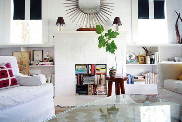 Book Storage Fireplace