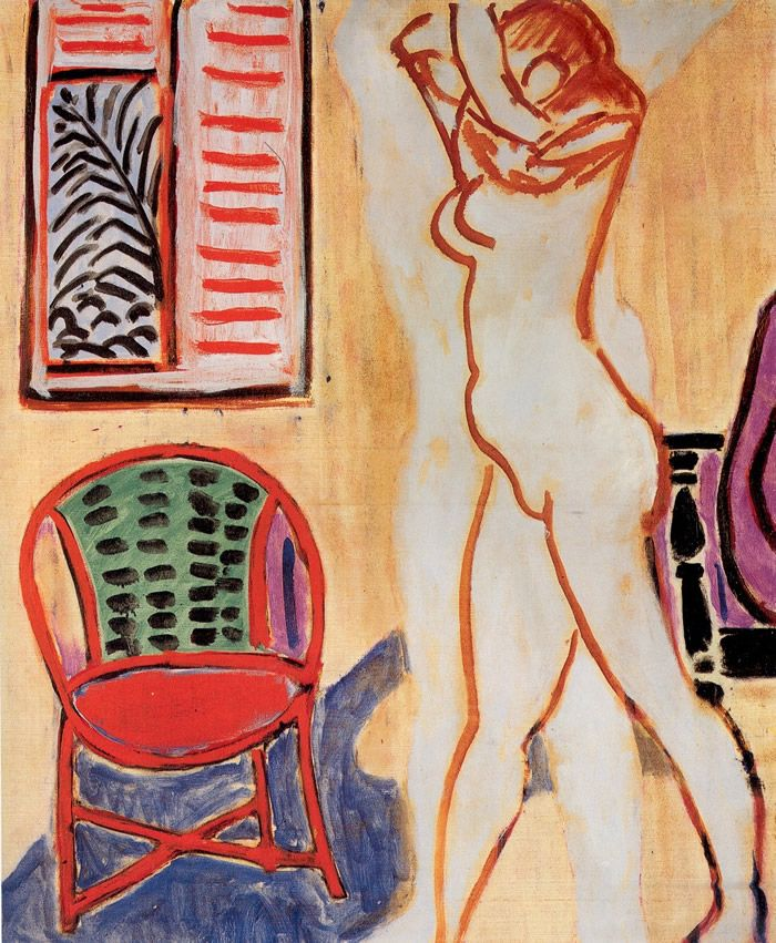Henri Matisse. Standing Nude with Raised Arms. 19471947 Henry, Artists, Arm 1947, Raised Arm, Henri Matisse, Rai Arm, Henry Matisse Art, Stands Nude, Artstack Henry Matisse