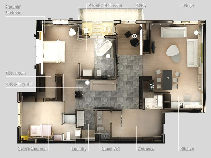 Free 3D Floor Plan Lay Out Design For Your House Or