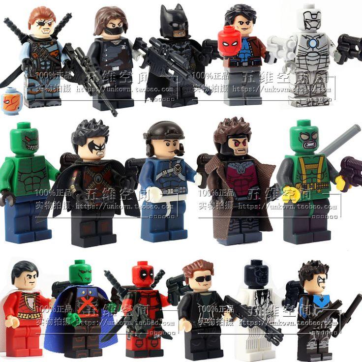 Пого-штырьковый 20 шт. супер герои звездные войны красный робин бэтмен гамбит марк 2 Minifigures строительных блоков кирпичи игрушки просвещения детей подарок
