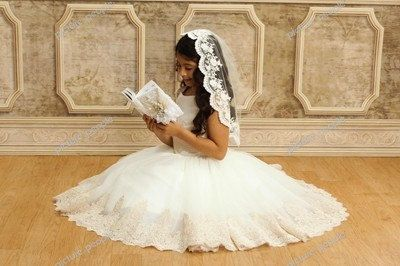 Hey, I found this really awesome Etsy listing at https://www.etsy.com/listing/150380987/first-communion-veil-catholic-veil-lace