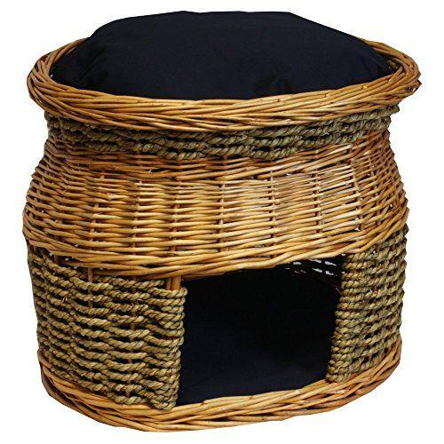 Wicker Double Decker Cat Basket and Bed Color: Navy Snoozer Pet Products http://www.amazon.com/dp/B00JNAXAL4/ref=cm_sw_r_pi_dp_gpIKub0NZ3KAN