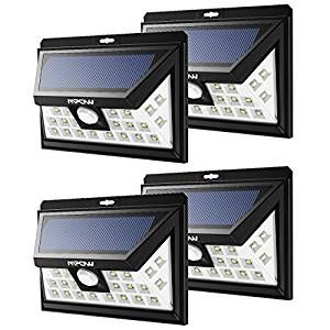 Outdoor Security Solar Light, Mpow® 24 LED Solar Powered Light, Wireless Waterproof Security Motion Sensor Light for Patio, Deck, Yard, Garden, Driveway, Outside Wall with 3 Modes Motion Activated, Wide Angle Sensor(Pack of 4): Amazon.co.uk: Kitchen & Home