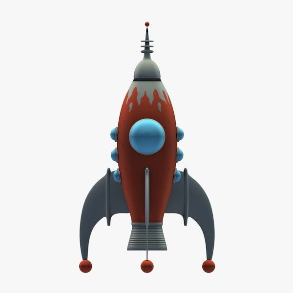 with rocket ship