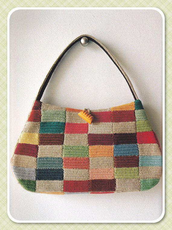 Japanese Craft Book, Crochet Bag Pattern, Knit Bag Pattern, Purse Pattern, Pouch Pattern