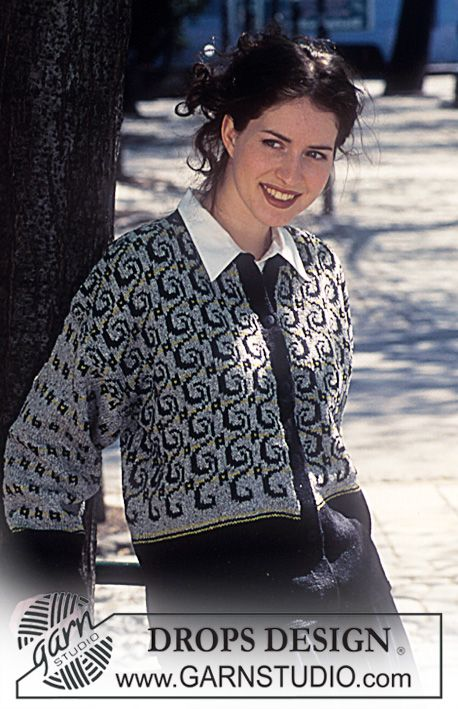 DROPS 57-7 - DROPS Cardigan in Silke-Tweed with Vines. - Free pattern by DROPS Design