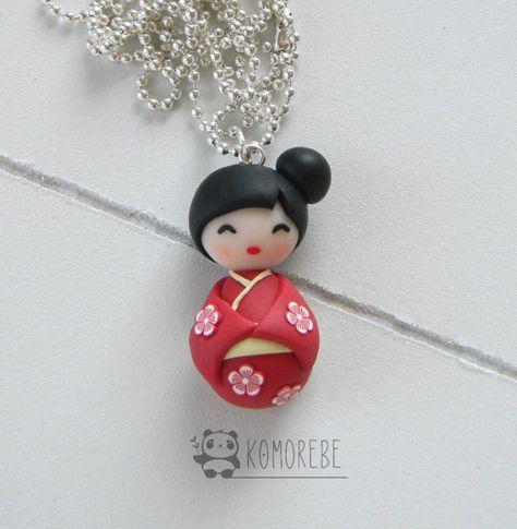 Kokeshi Doll Japan Collana