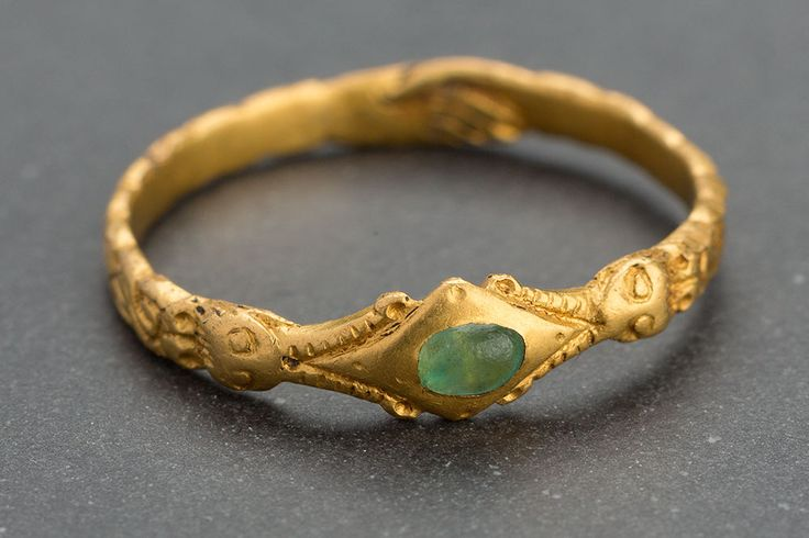 Metal detecting find from Holland. Dated anywhere from 11th to 16th century but most likely 13th/14the century. Obviously high carat gold and the stone looks like emerald but could be glass.