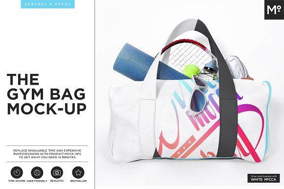 Gym Bag Mock-up by Mocca2Go/mesmeriseme on @creativemarket