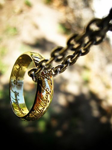 One ring to rule them all.......there is a necklace u can get that looks like the one ring on a chain I really really want it!!!!!