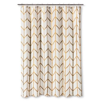 Threshold Shower Curtain Gold Ikat: