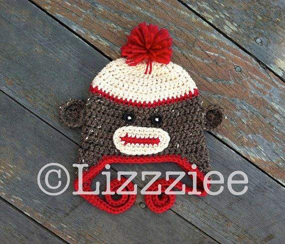 Pattern Sock Monkey Hat Crochet PDF  instructions for by lizzziee, $3.99