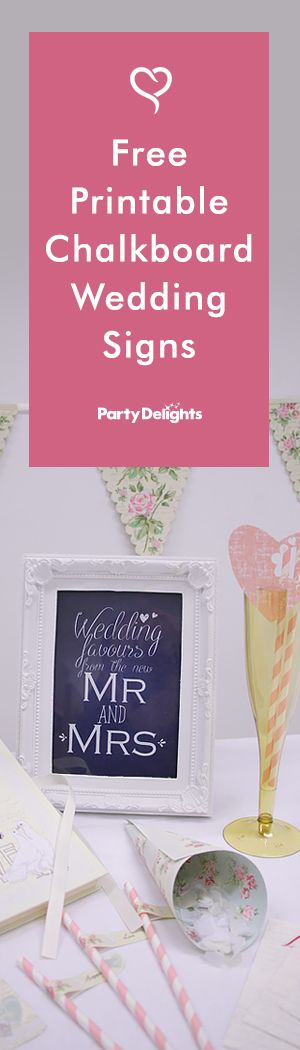 Wedding printables are a great way to cut down the cost of your wedding decorations! Download our free chalkboard wedding signs on our blog and choose from three vintage designs. Choose from a candy buffet sign to go next to your wedding favours, a 'welcome to our wedding' sign and a wedding guestbook sign.