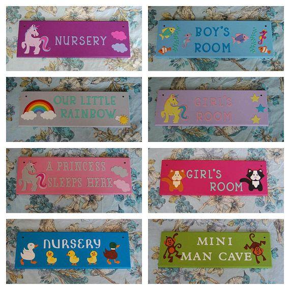 Children's bedroom nursery ready made door plaques door