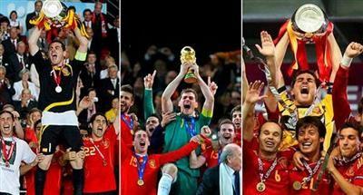 Tricampeon: Eurocopa 2008, Mundial Sudáfrica 2010, Eurocopa 2012
