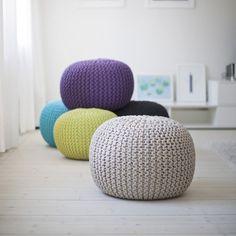 DIY - Sticka eller virka en trendig sittpuff
