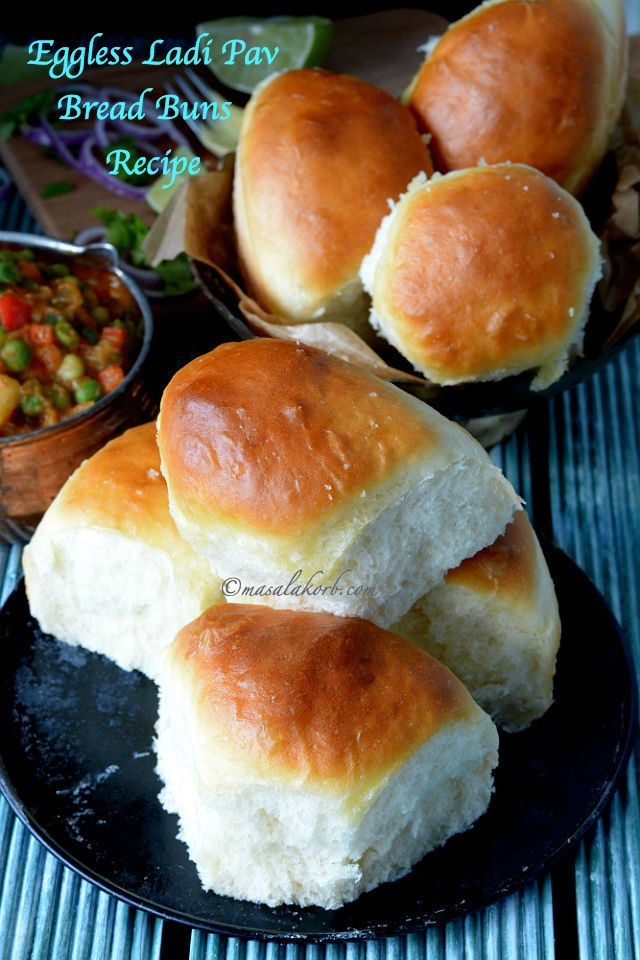 1479 best breads images on pinterest pan bread pastries and step by step guide for eggless ladi pav bread buns recipe to make soft light forumfinder Image collections
