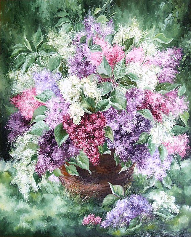 Картины - Цветы - Сирень (Холст, масло)