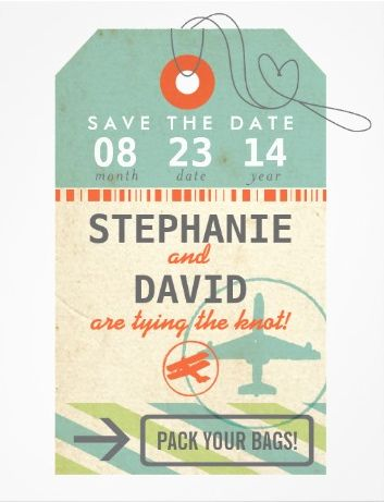 Or a luggage tag if you like the travel theme. | All The Boho Wedding Inspiration You Could Possibly Need