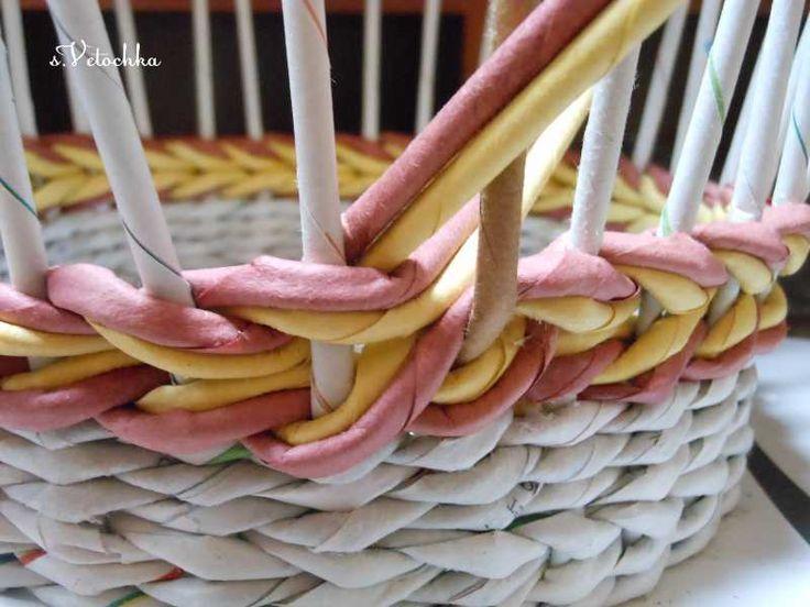 Тема: Мастерская Веточки (165/200) - Плетение из газет и другие рукоделия - Плетение из газет