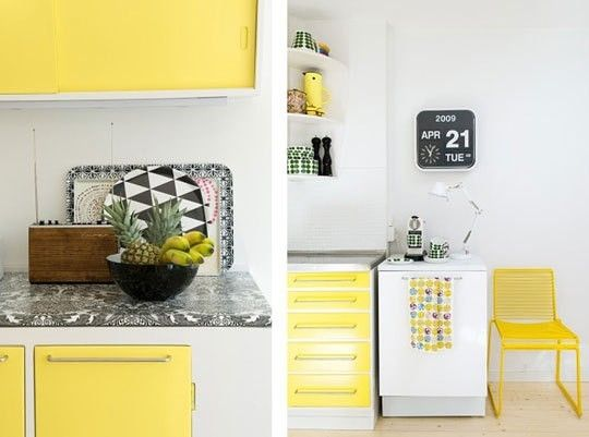 Yellow White And Gray Kitchen Kitchen Dreams Pinterest