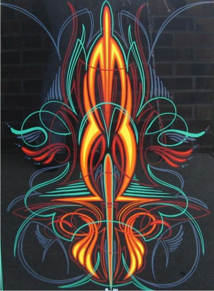 Randy Johnsen - Custom Pinstriping, Lettering & Vehicle Graphics - Pinstriping - Pinstriped Panels