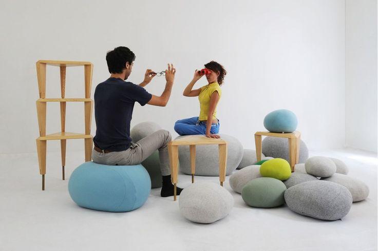 Colorstones Floor Cushion by Stephanie Marin for Smarin | Poliform Australia