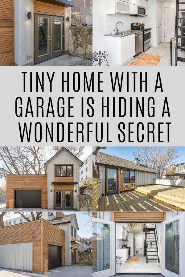 Tiny Home With A Garage Is Hiding A Wonderful Secret Tinyhome Secretspace Tiny House Tiny House Living Small House Plans