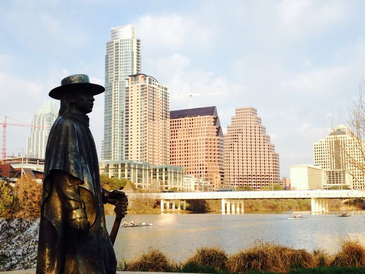Say hi to the Stevie Ray Vaughan Statue in Austin, TX.