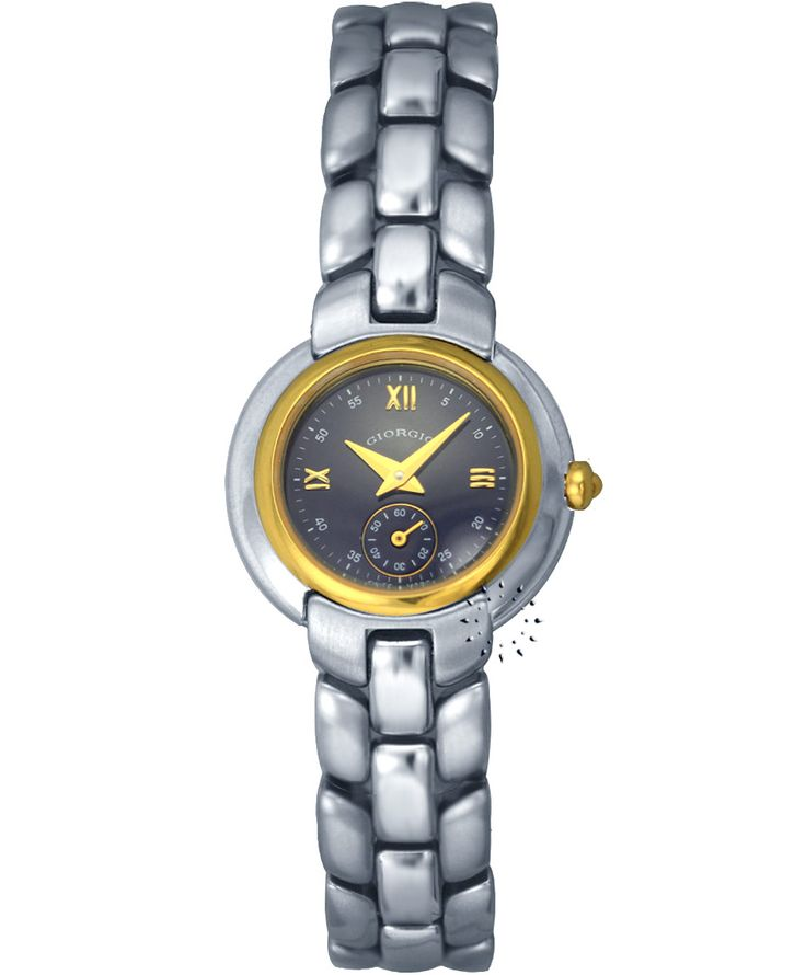 GIORGIO Bevery Hills Two-Tone Stainless Steel Bracelet Τιμή: 395€ Τιμή Προσφοράς: 85€ http://www.oroloi.gr/product_info.php?products_id=34346