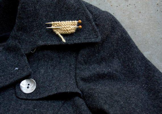 knitting pin pure wool van LaMauvaiseGraine op Etsy