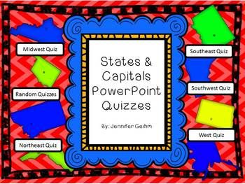 Digitalize your States/Capitals assessments by using this bold and colorful PowerPoint Presentation! These assessments are more engaging for your students, and easier for you to grade. These quizzes and PowerPoint are designed to show your students an image of the state within a map, and for them to identify the state and/or capital.
