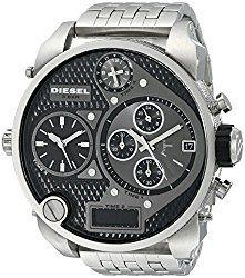 Montre Diesel Argent Homme DZ7221 Quartz Analogique Chronographe - Cadran en Acier inoxydable Argent - Bracelet Acier inoxydable Argent - Date