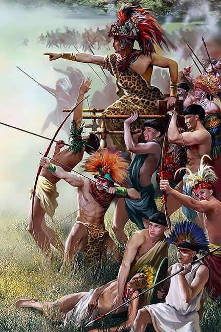 Aztec warriors LA GUERRA DE MEXICO INDIO