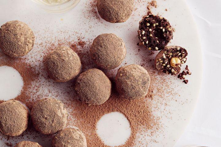 Sugar free ferrero rocher protein balls