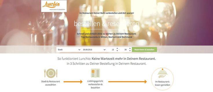 GUTES ESSEN, OHNE ZU WARTEN Lunchio ist Deutschlands erster Online-Kellner und digitaler Restaurantführer speziell für die Mittagspause. Lunchio entkoppelt den Bestellprozess von Restaurants zeitlich und räumlich, digitalisieren und vereinfachen ihn so radikalWeiterlesen...