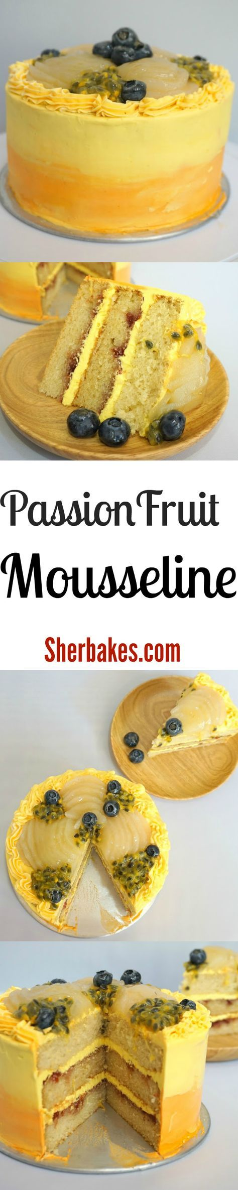 Passionfruit Mousseline - Tangy Filling for your cakes #buttercream #passionfruit