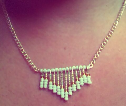 Made my own necklace I want to try this one again in a different colour