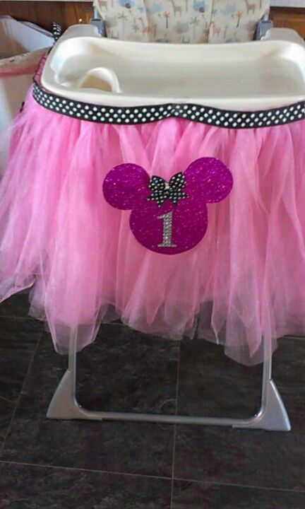 Diy Tutu For Around The High Chair For First Birthday