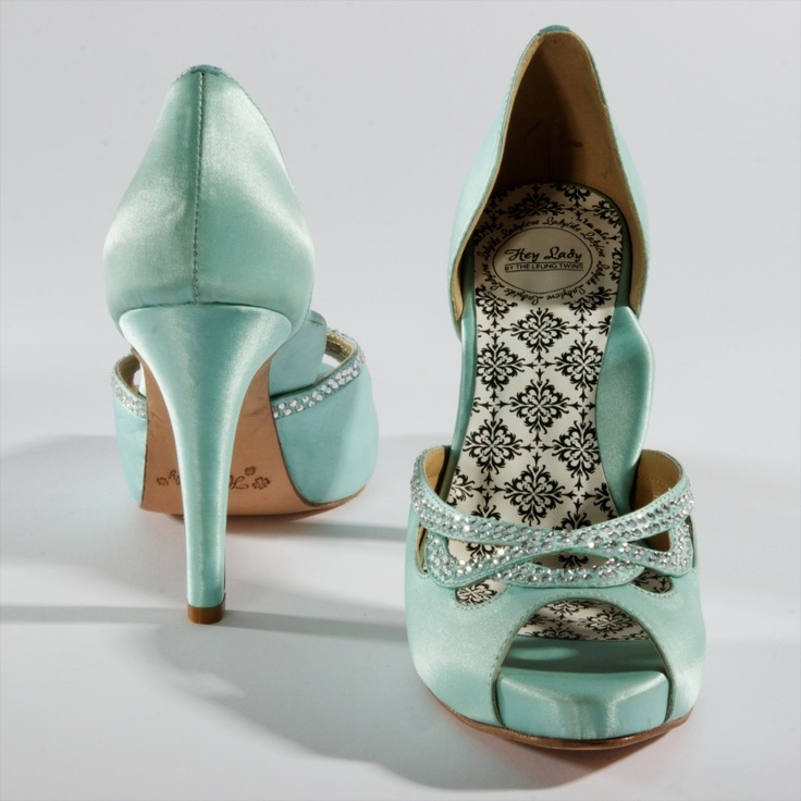 "Robin's Egg ""Knotty Girl"" heels by Hey Lady $280 (something blue?)"