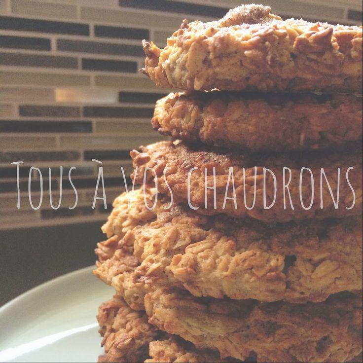 Tous à vos chaudrons: Biscuits pommes et cannelle