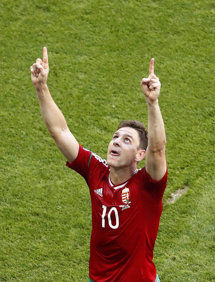 Euro 2016, Portugalsko-Maďarsko: Zoltán Gera slaví gól na 0-1