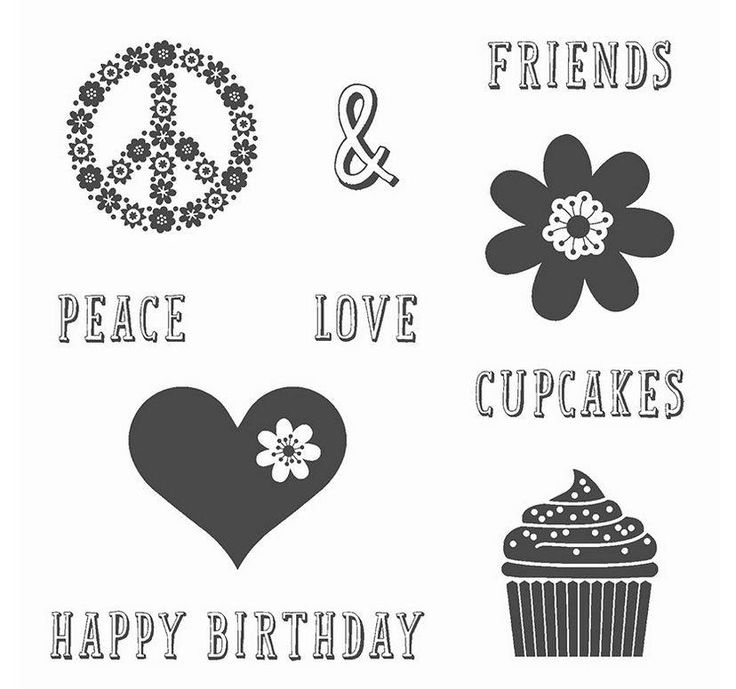 Who Loves Cupcakes and Friends? This is the set for you! *Peace, Love and Cupcakes* #stampinupuk #cupcakes