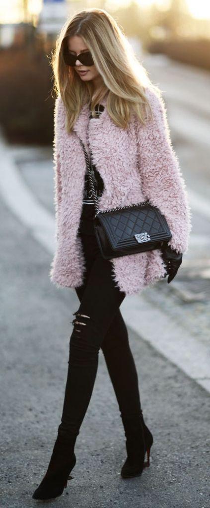 #winter #fashion / pink