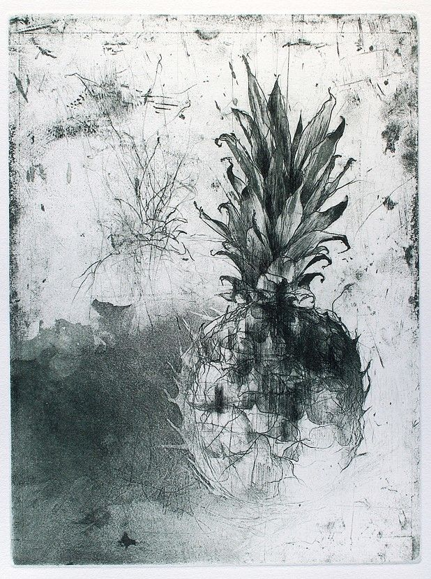 Jake Muirhead, 'One Whole Pineapple', etching, aquatint and drypoint