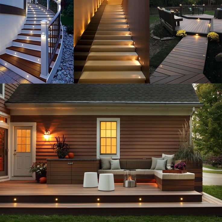 Led deck lights kit 12v low voltage waterproof ip67 warm white recessed deck lighting in ground light for stair step garden patio yard wood floor outdoor