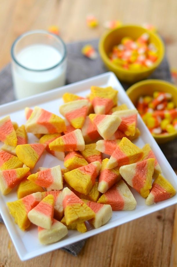 Candy Corn Sugar Cookie Bites   Forgiving Martha for Camille Styles