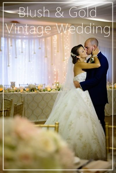 Pretty blush and gold vintage wedding in London Ontario. Photo by HRM Photography. http://www.theweddingguru.ca/pink-gold-vintage-wedding-london-ontario/ #vintage #vintagewedding
