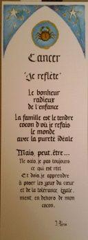Signet du zodiaque calligraphié et enluminé , doré en relief au pinceau à offrir…