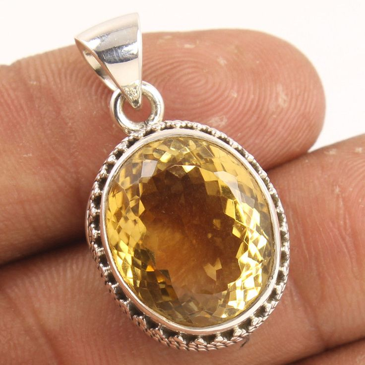 925 Sterling Silver Beautiful Pendant Natural CITRINE Gems ! Wholesale Suppliers #Unbranded #Pendant